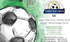 Street Feet Fiesta 5.0: A Rotaract club initiative to promote Football at grassroots level